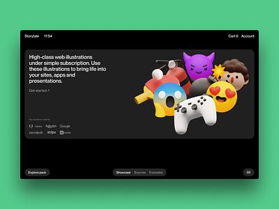 Superscene illustrations 🔥 graphics blender volumetric emoji icons objects superscene 3d illustration design ui application website landing web craftwork