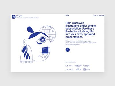 Blueshift illustrations ⭐️ noisy grainy blueshift illustration ui design application website landing vector web craftwork