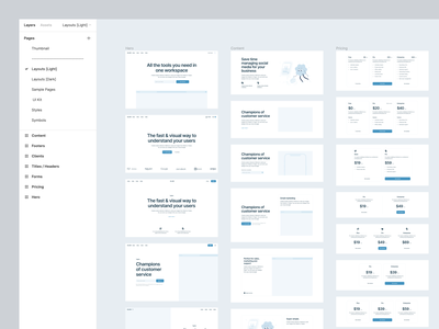 Blank Wireframe Kit ⚡️ product blank wireframe illustration design ui application website landing vector web craftwork