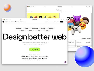 Craftwork Design 🔥 redesign introducting promo presentation flow ux uxui templates 3d illustration design ui application website landing vector web craftwork