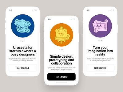 Smart Stickers illustration design ui application vector craftwork