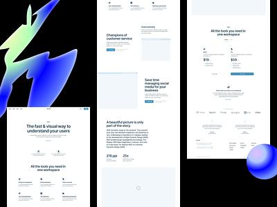 Blank Wireframe kit 🔵 layouts wireframe canva blank design ui application website landing web vector craftwork