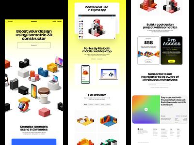 Isometrica 2.0 🔥3D illustration constructor 3dconstructor illustration ui design application website landing web craftwork