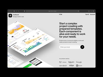 Motherboard UI Kit 🌿 charts graphs statistics stats flowchart wireframe prototyping illustration design ui application website landing vector web craftwork