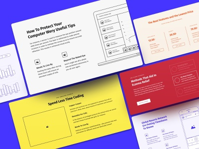 Method Wireframe Kit style grid google fonts vector clean craftwork project prototyping bootstrap blocks figma prototype freebie ux website web web design ux kit wireframe