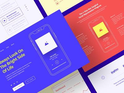 Method Wireframe Kit grid google fonts vector clean craftwork project prototyping bootstrap blocks figma prototype ux website web web design ux kit wireframe freebie free