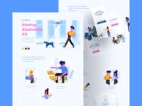 Stubborn Illustrations Landing Page