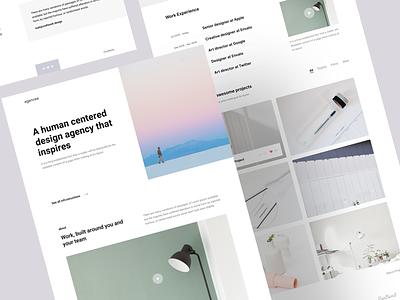 Sneak peek. bootstrap design minimal usplash agency web design portfolio landing web templates