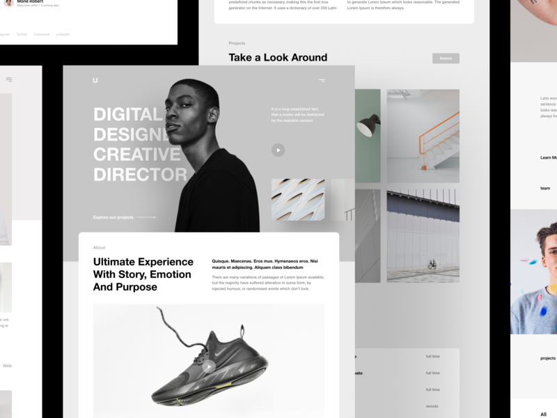 Introducing Run Templates story contacts webdeisgn clean figma sketch craftwork bootstrap minimal instagram portfolio web page landing agency template