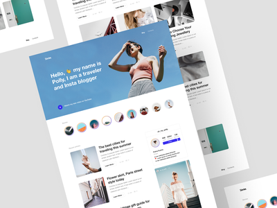 Run Templates story contacts webdeisgn clean figma sketch craftwork bootstrap minimal instagram portfolio web page landing agency template