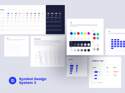 Symbol Design System 2 Components icons mockups vector responsive fonts elements media craftwork ux interface adaptive symbols sketch library components landing web ui kit ui design system