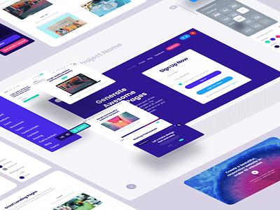 Starup 3 Generator background site web page application app website vector web landing page landing startup colorful framework startup 3