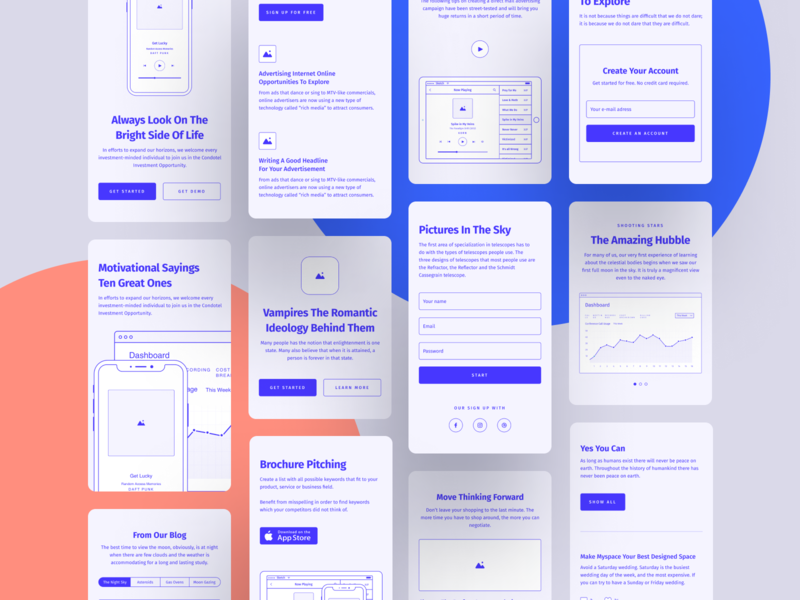 Method Wireframe Kit 2.2 free freebie wireframe ux kit web design web website ux prototype figma blocks bootstrap prototyping project craftwork clean vector google fonts grid
