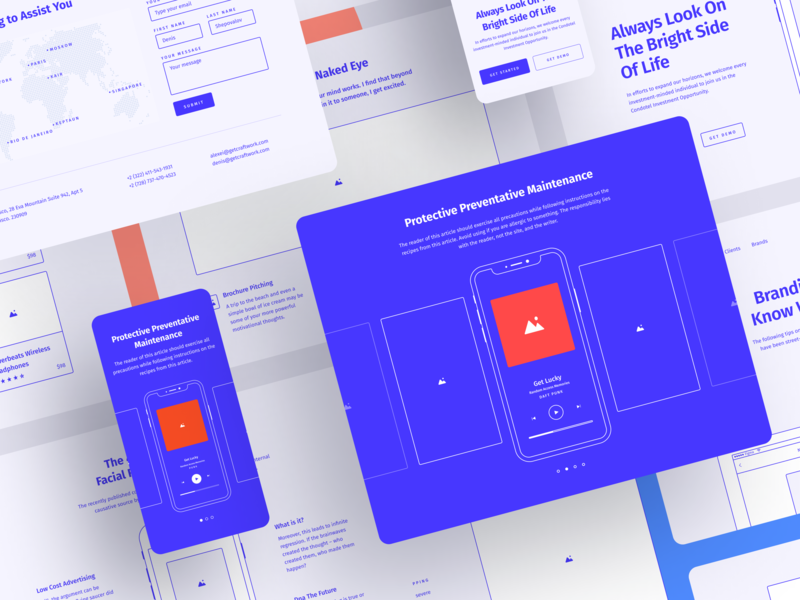 Method 2.2 grid google fonts vector clean craftwork xd photoshop sketch prototyping bootstrap blocks figma prototype freebie ux website web web design ux kit wireframe