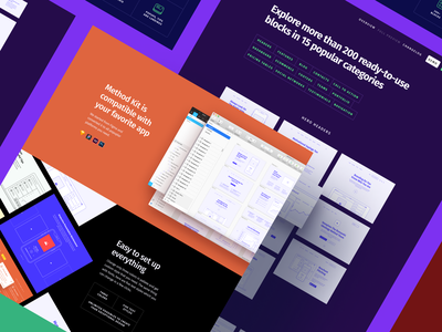 Method Wireframe Kit 2.2 grid google fonts vector clean craftwork xd photoshop sketch prototyping bootstrap blocks figma prototype freebie ux website web web design ux kit wireframe
