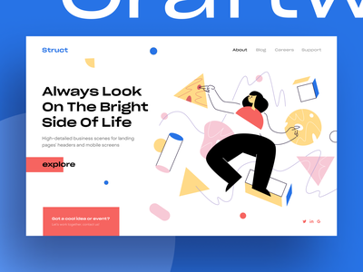 Struct Illustrations error 404 404 web page app walkthrough application website site background vector eps svg landing web story ai flat craftwork illustrator illustration