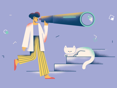 Second sneak-peek of new illustration pack shape illustrator cat seek ui website application app vector illustration