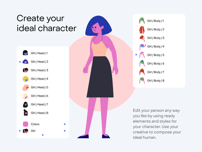 [Freebie] Stubborn Illustrations Generator craftwork nested symbols components robot boy girl character generator constructor pic image vector illustrator sketch figma illustrations illustration freebie free