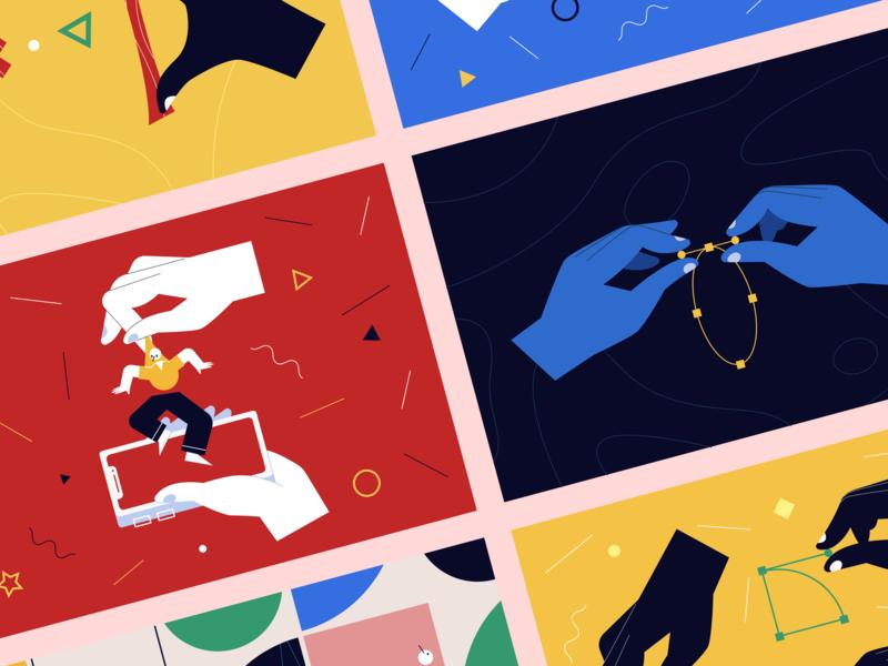 Sneak-peek of Our New Illustration Pack startup error 404 404 web page app application walkthrough image website site background vector eps svg landing web scene picture craftwork illustration