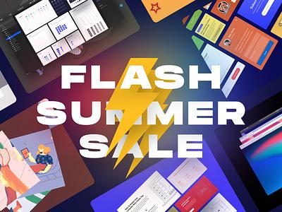 ⏱ Flash Summer Sale! ui ux dailyui illustrations web craftwork digital discounts summer flash banner sale banner sales 50 bundle discount sale