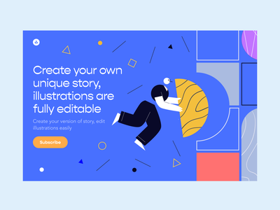 Oliver Illustrations walkthrough image website site background eps svg landing web scene picture colourful man hands vector character craftwork illustrations illustration