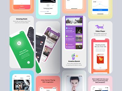iOS Jetpack adobe photoshop sketch app design ui mobile apple application appstore app screenshot template