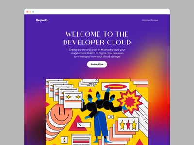 Superb + Web = ❤️ colorful flat scene graphic components robot boy girl character generator colourful pic image vector png noice