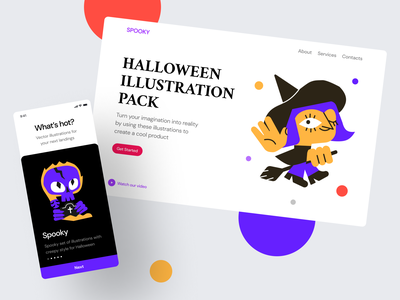 Spooky Illustrations october devil zombie grave ghost witch trick or treats vector png landing reckless pumpkin scary creepy holiday halloween web svg