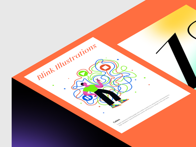 Blink research study work life world scene stylish contrast lifestyle detailed modern colorful blink web sketch png ai svg