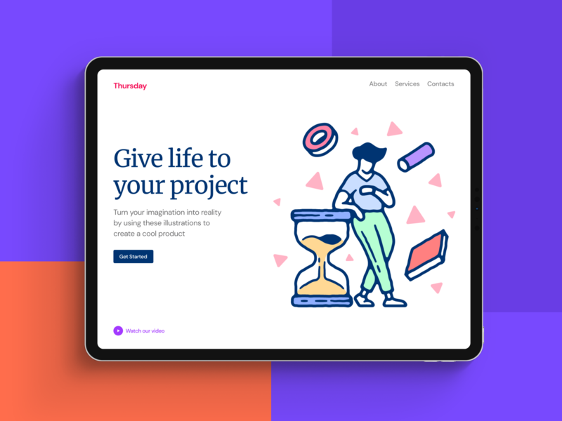 Thursday Illustrations daily sport research study work design scene world detailed stylish old shool colorful web png ai svg