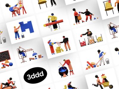 Meet 3DDD Illustration Pack