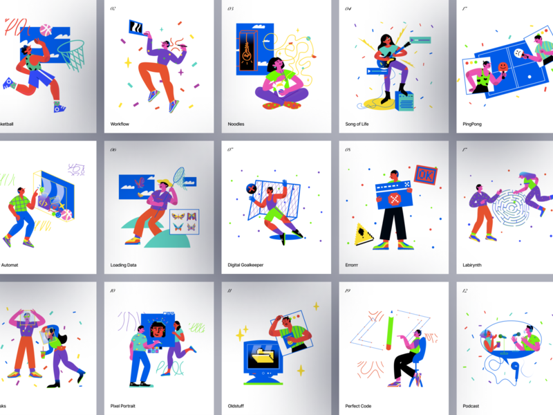 Blink Illustrations research study work life world scene stylish contrast lifestyle detailed modern colorful blink web sketch png ai svg