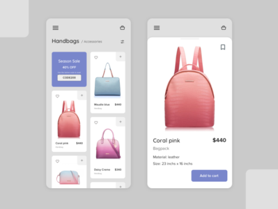 Shopping app ux ui design ecommerce shopping app uidesign