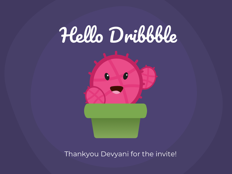 Hello Dribbble! first shot design illustration cactus hello dribbble