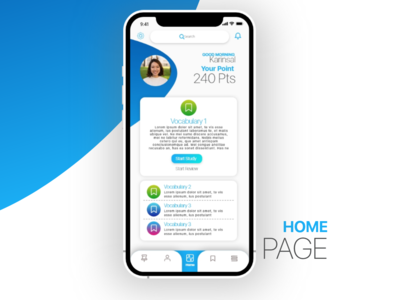 UI Home Page Layout Design
