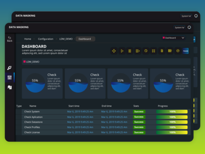 Dashboard single page for Data masking