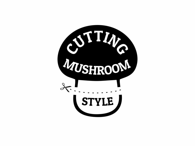 Ari Karnovski Portfolio Logo 066 arikarnovski expdn24 expressdesign24 scissors cutting mushroom branding flat vector graphics design sign logo