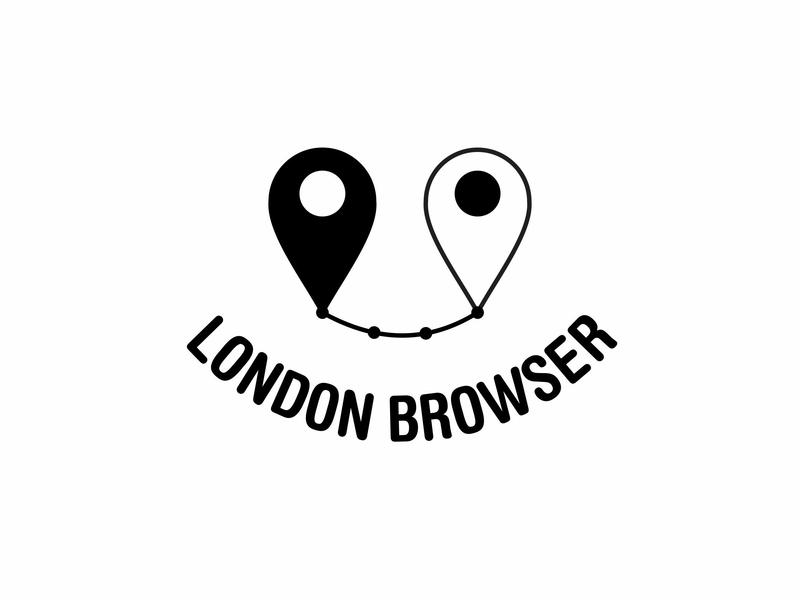 Ari Karnovski Portfolio Logo 070 icon watermark black white logo sign design graphics vector eyes smile path map point london