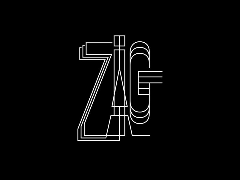 Ari Karnovski Portfolio Logo 068 expdn24 expressdesign24 arikarnovski zigzagzig black white wires flat vector graphics design sign logo