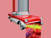 Vintage Car Glitch