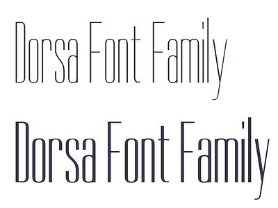 Dorsa Font Family typemade dorsa
