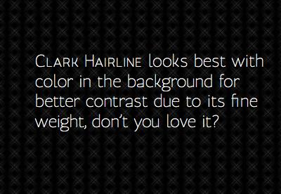 Clark Hairline Released typemade clark hairline typography type design fontdeck