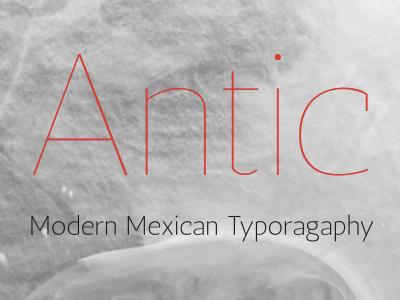 Antic Family typemade antic typography