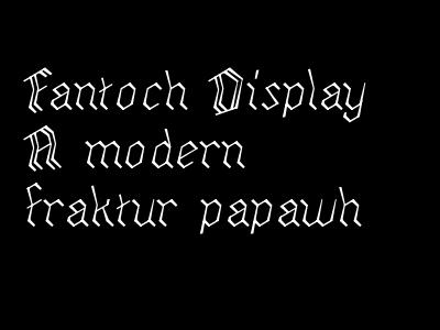Fantoch typemade typography fantoch