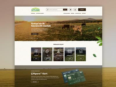 Ciftligim Corporate E-Commerce Web Site