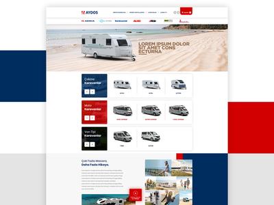 Adria-Aydos Caravan E-Commerce UI Design