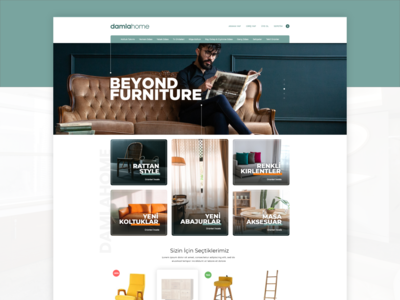 Damla Home Furniture UI Design