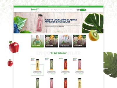 Juicetif   Cold Pressed Juice E Commerce UI Design
