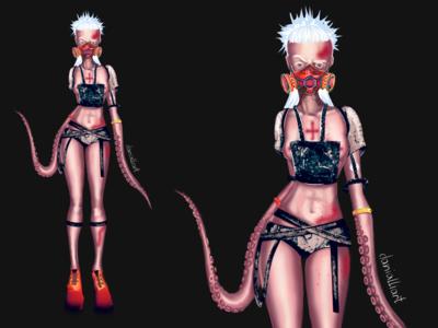 Character design. Tentacles