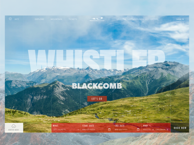 Whistler Blackcomb: Summer adventure travel mountains canada graphicdesign clean